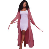 2020 Temperament Commuting Sexy Solid Color V-neck Long Sleeve Cardigan Lady Jacket Chiffon Shirt 202003103941
