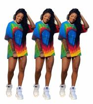 2020 Fashion Leisure Trend Street Multicolor Printing Loose Round Neck Short Sleeve Ladies T-shirt Summer 202004139010