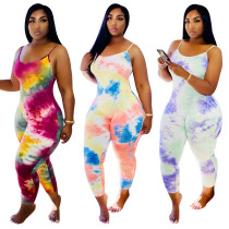 2020 Summer Fashion Sexy Suspenders Gradient Color Vest One-piece Women's Jumpsuit 20200508543