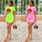 2020 Fashion Classic Side Stripe Lip Print Casual Sports Two-piece Suit Female Shorts 202005302030