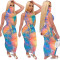 Copy New Summer Women's Clothing Casual Temperament Printed Round Neck Sleeveless Mask One-piece Dress Nightclub Long Skirt CX202006064033