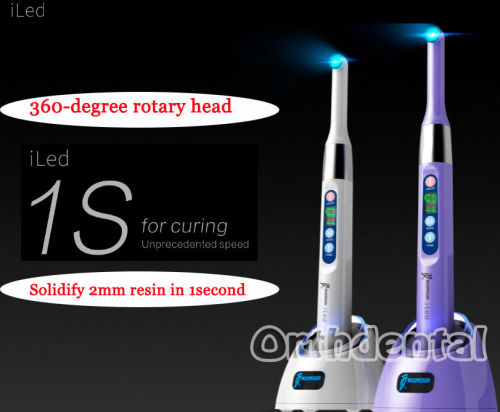 Dental Woodpecker iLED Wireless Curing Light Lamp 1 second Curing 2300mw/c㎡ Original