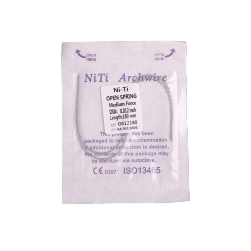 Dental  Orthdentic NITI Open Coil Spring Arch Wires 0.010/.012 180mm