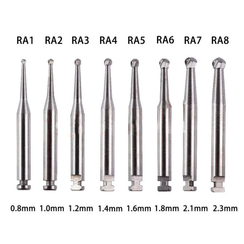 RA Dental Round Carbide Burs Tungsten Steel Low Speed Contra Angle Handpiece Burs