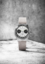 PIERRE PAULIN Vintage Panda Style Chronograph Mechanical Men's Watch