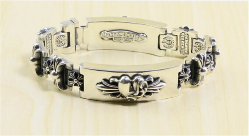 CHROME HEARTS BRACELET Sterling Silver Double Heart Sword Bracelet CHB085