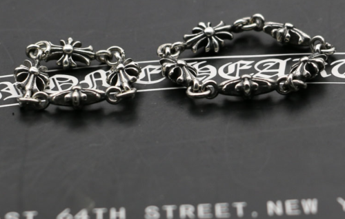 Chrome Hearts CH CROSS Chain Ring CHR139 Solid 925 Sterling Silver