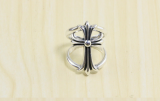 Chrome Hearts Keeper Ring Double CHR107 Solid 925 Sterling Silver
