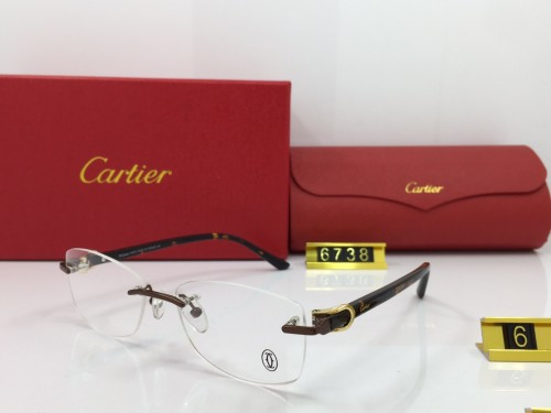 Wholesale Fake Cartier Eyeglasses 6738 online FCA292