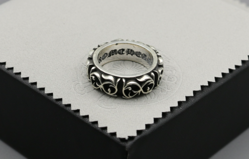 Chrome Hearts Ring Flower CHR085 Solid 925 Sterling Silver