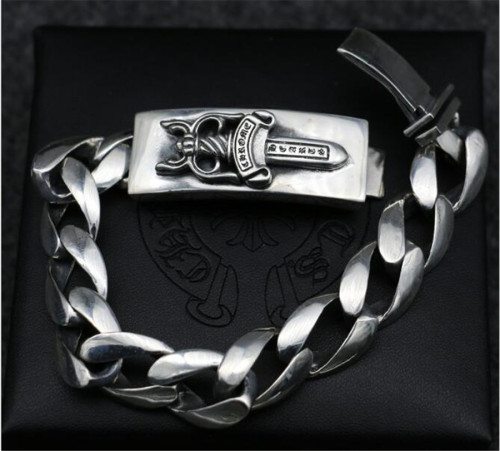 CHROME HEARTS 925 Sterling Silver Bracelet CHB069