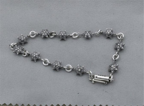 CHROME HEARTS BRACELET Thai Silver Hexagram Harajuku CHB073