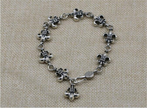 CHROME HEARTS 925 Sterling Silver Anchor Bracelet CHB066