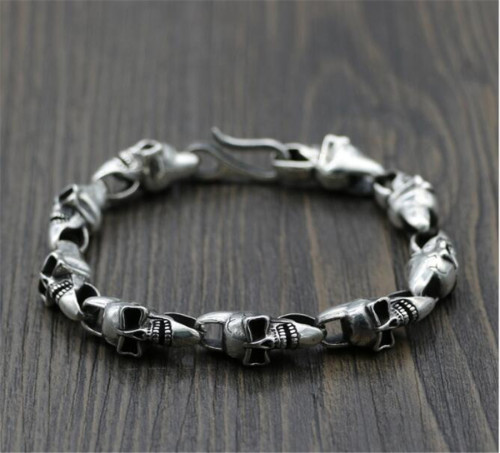 CHROME HEARTS BRACELET Solid Punk Sterling Silver Bracelet CHB080