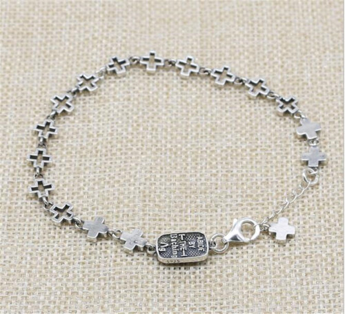 CHROME HEARTS BRACELET Cross Bracelet 925 Sterling Silver CHB084