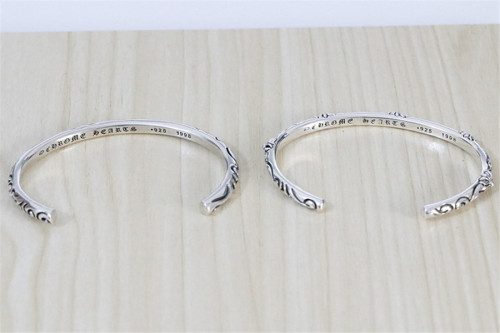 Chrome Hearts Roll Bangle CHT019 Solid 925 Sterling Silver