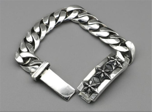CHROME HEARTS BRACELET sterling silver bracelet thick punk CHB072