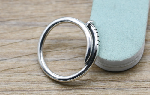 Solid 925 Sterling Silver Nail Ring CHR138