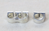 Chrome Hearts Double Finger Rings CH CROSS CHR117 Solid 925 Sterling Silver