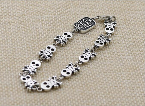 CHROME HEARTS BRACELET Pirate Skull Bracelet CHB086