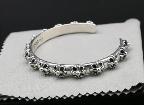 Chrome Hearts Tiny Cross Bangle CHT040 925 Silver