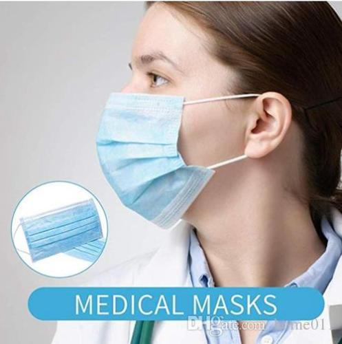 Medical masks In Stock! Disposable Face Mask Non Woven Face Masks 3 Layer Anti-Dust Waterproof Dust Air Pollution Protection N95 free shipping