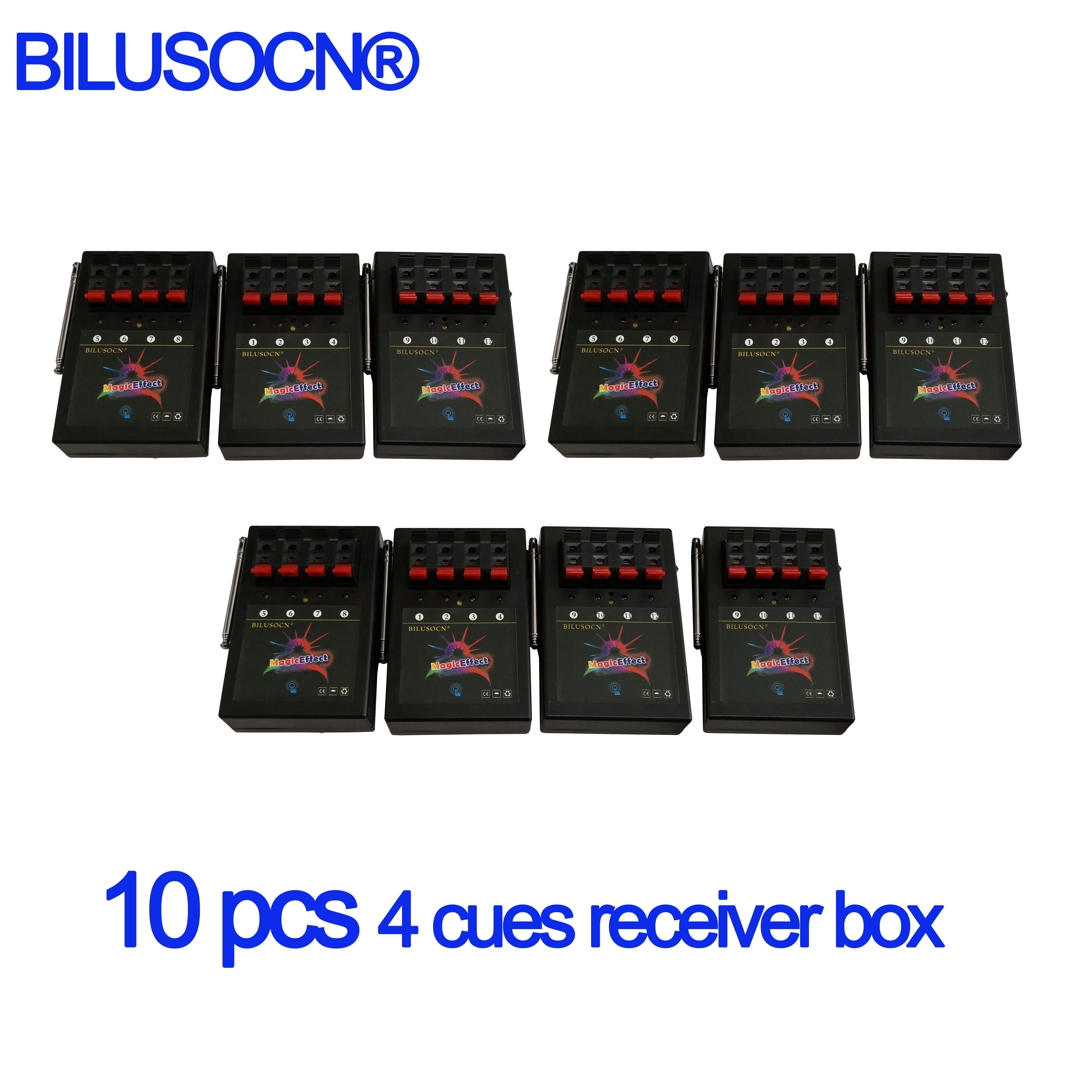 10 PCS 4 cues receiver box 433MHZ for fireworks firing system