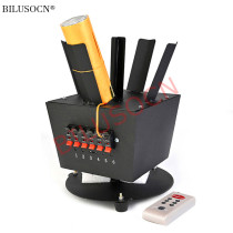 6 Cues rotating cold fireworks firing system wireless remote control machine