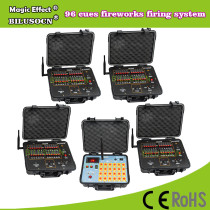 DHL shipping+96 Channel fireworks firing system+300M Remote+2400cues transmitt