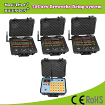 DHL shipping+72Channel fireworks firing system+300M Remote+2400cues transmitt