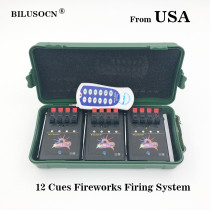 Shipping From USA 12 Cue Wireless Fireworks Firing system equipment+Igniter Remote control