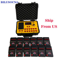 Shipping From USA Bilusocn 500M distance+48 Cues Fireworks Firing System ABS Waterproof Case remote Control Equipment
