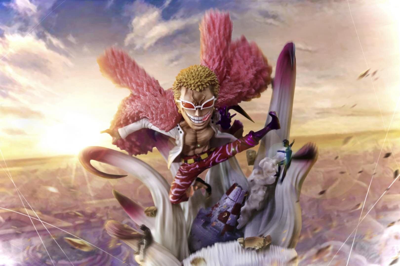 G5 Studio One Piece Monkey·D·Dragon Figure Model Resin Statue WCF Size 8cm GK