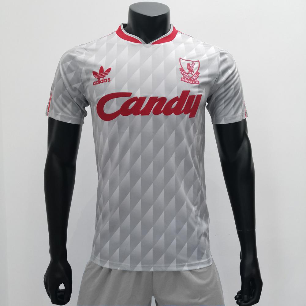 Liverpool 1989/1991 Away Retro Soccer Jerseys