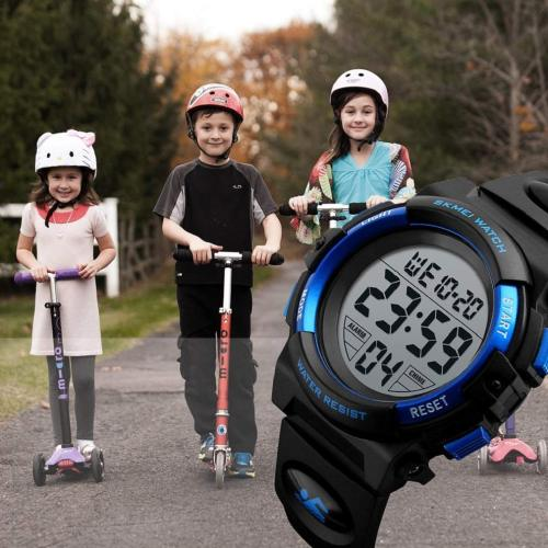 Kid's watches Digital Sport Outdoor Cool LED Fashion Waterproof Children's Wristwatches Electronic Alarm Stopwatch Uhren montres