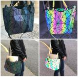 Geometric Fashion Women handbag Luminous Ladies Rucksack Shoulder Bag Purse Lingge Fashion School Casual Holo handbag