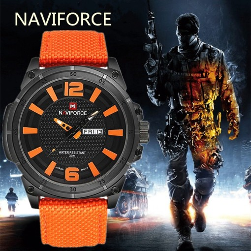 Men Watch Date Week Sport Mens Watches Top Brand Luxury Military Army Business Nylon Band Quartz Male Clock Gift 9066