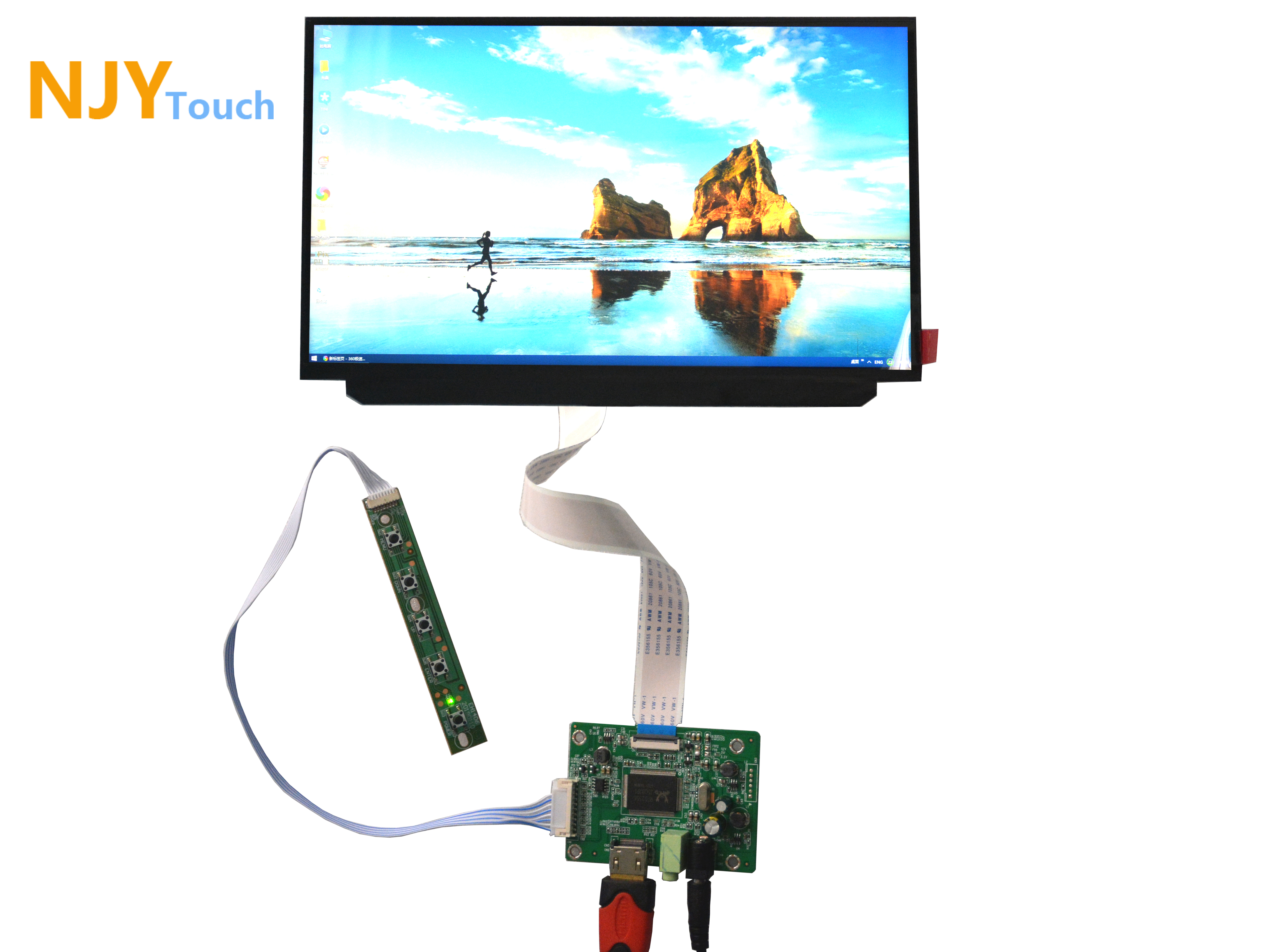 NJYTouch HDMI eDP LCD Controller Board With 12.5inch B125HAN02.2 1920x1080 30Pin LED Screen