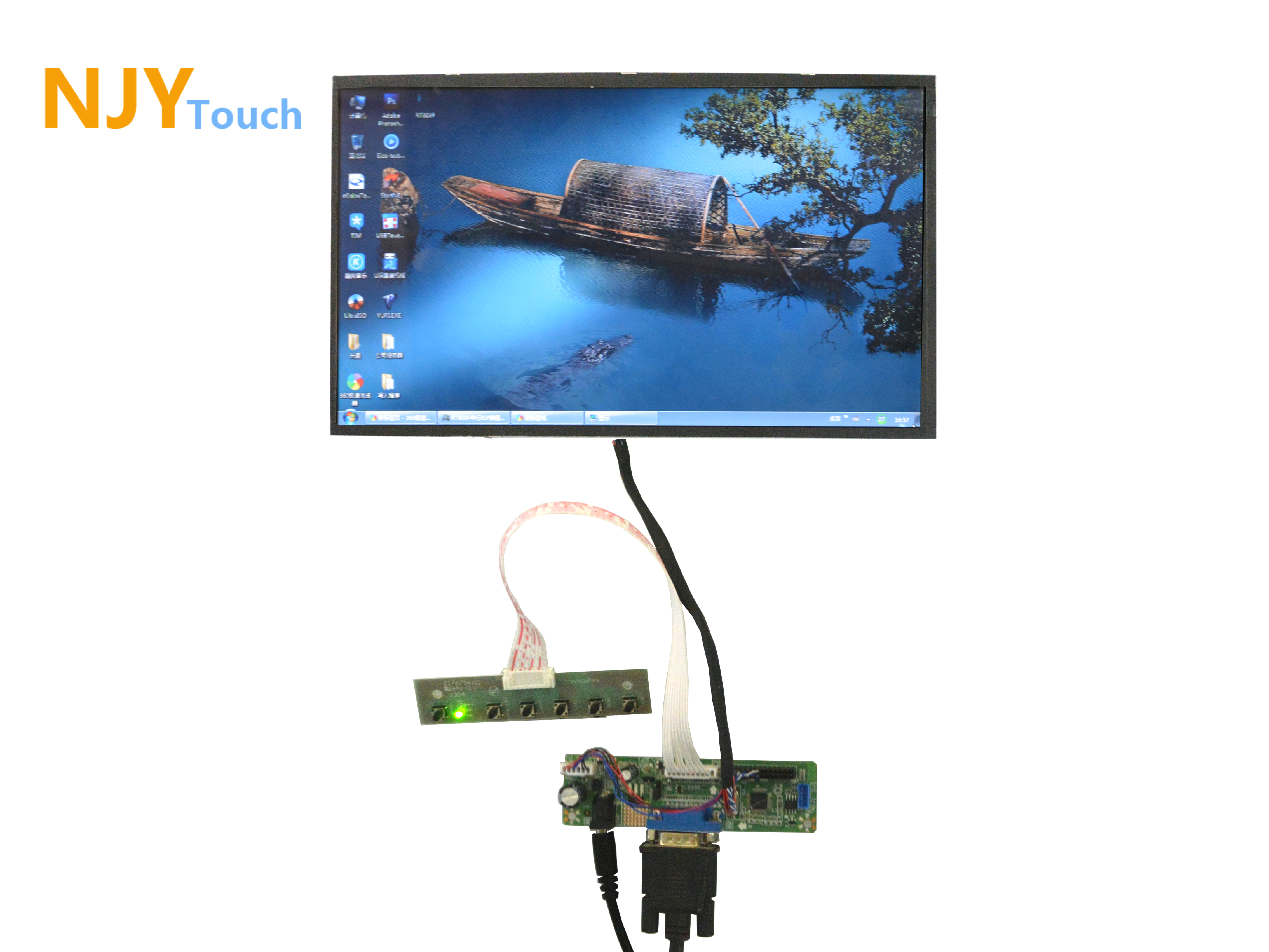 NJYTouch V.M70A VGA LVDS LCD Controller Board With 11.6inch 1366x768 B116XW02 40Pin LED Screen