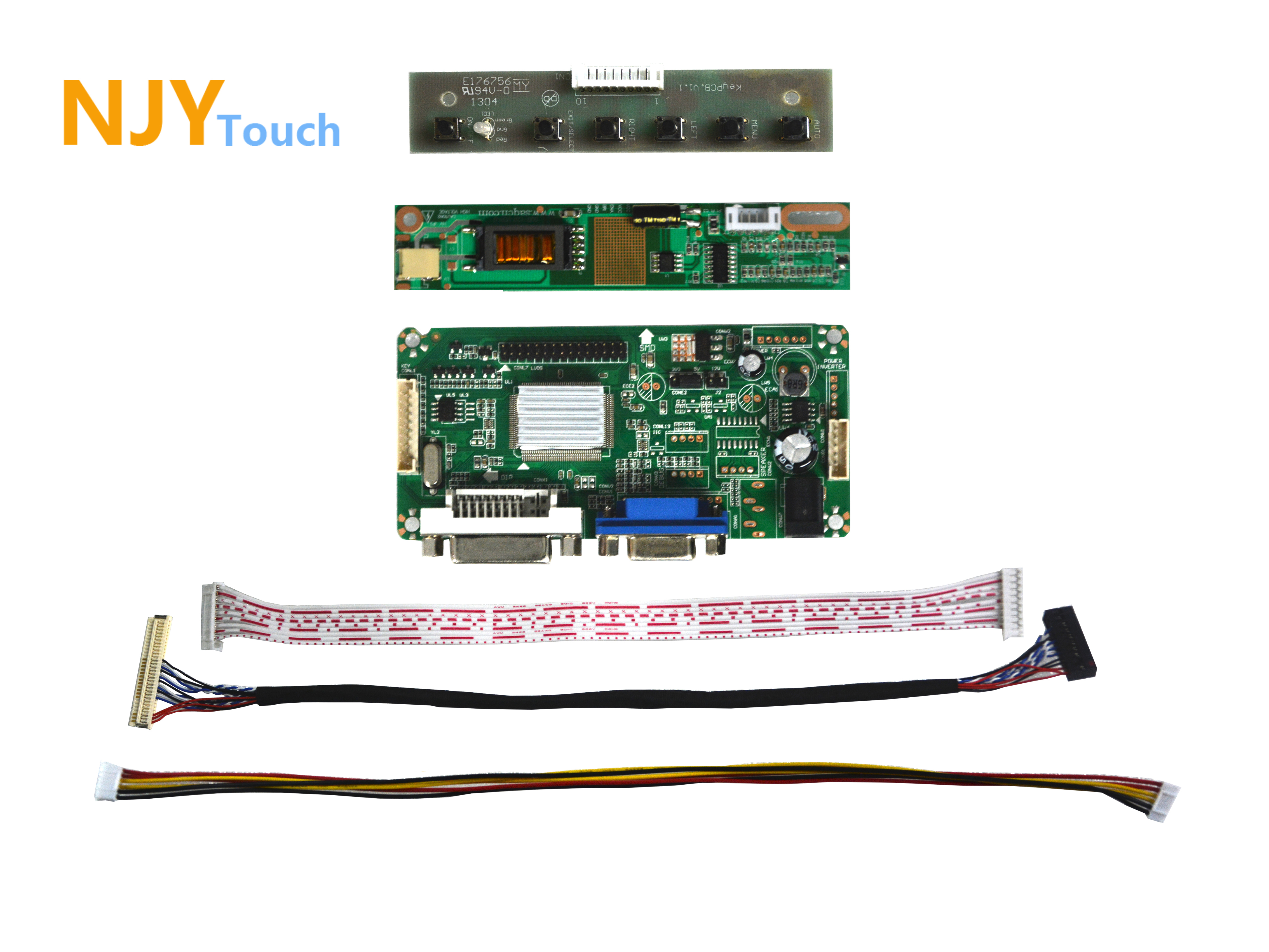 NJYTouch LM.R61 DVI VGA LCD Controller Driver Board For 15inch LP150X08-A5 P150X09-B2 1024x768 LED Screen