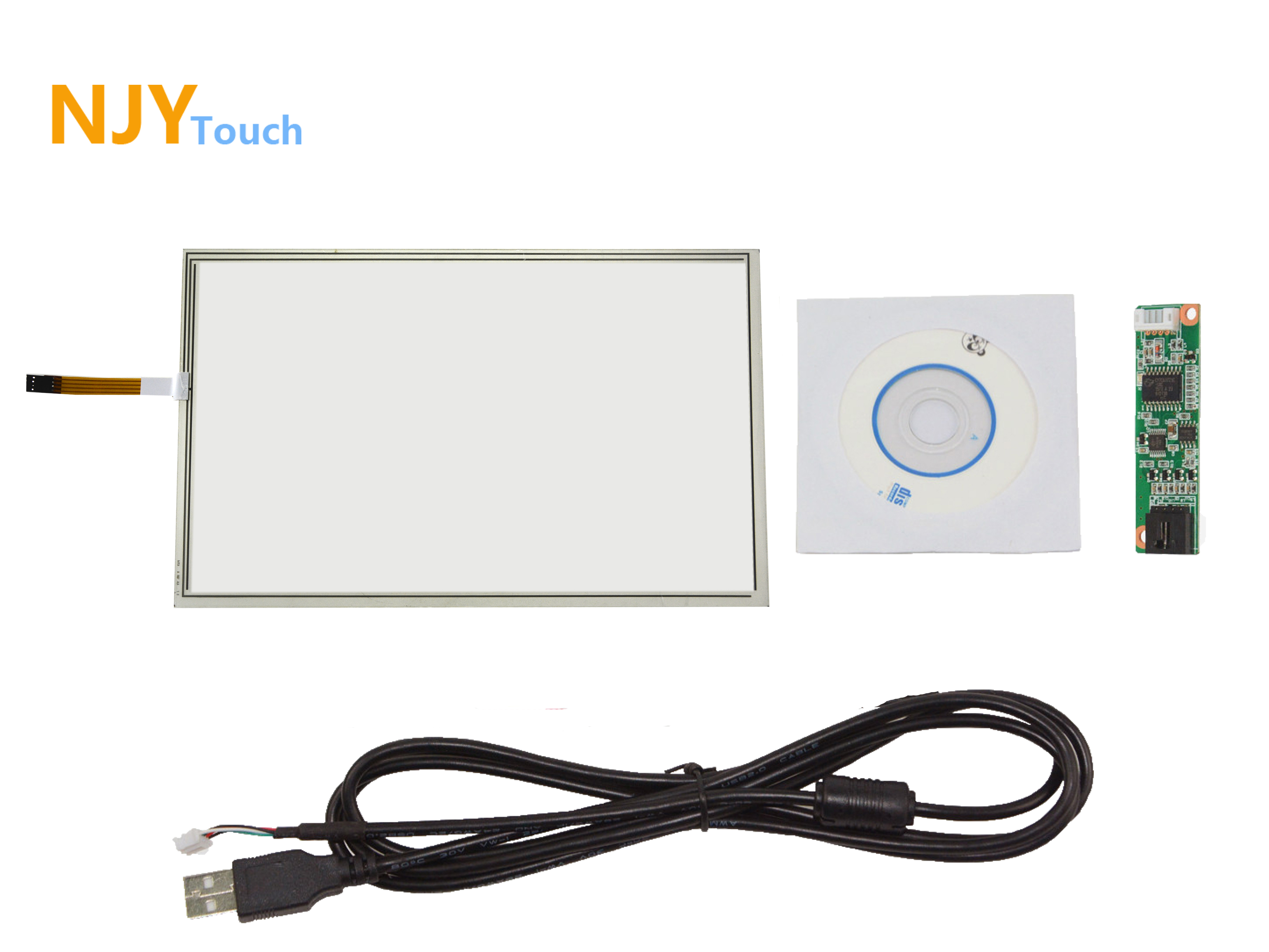 15.4inch 4 Wire Touch Panel 352 x 230mm USB Controller Card For 15.4  LCD Screen