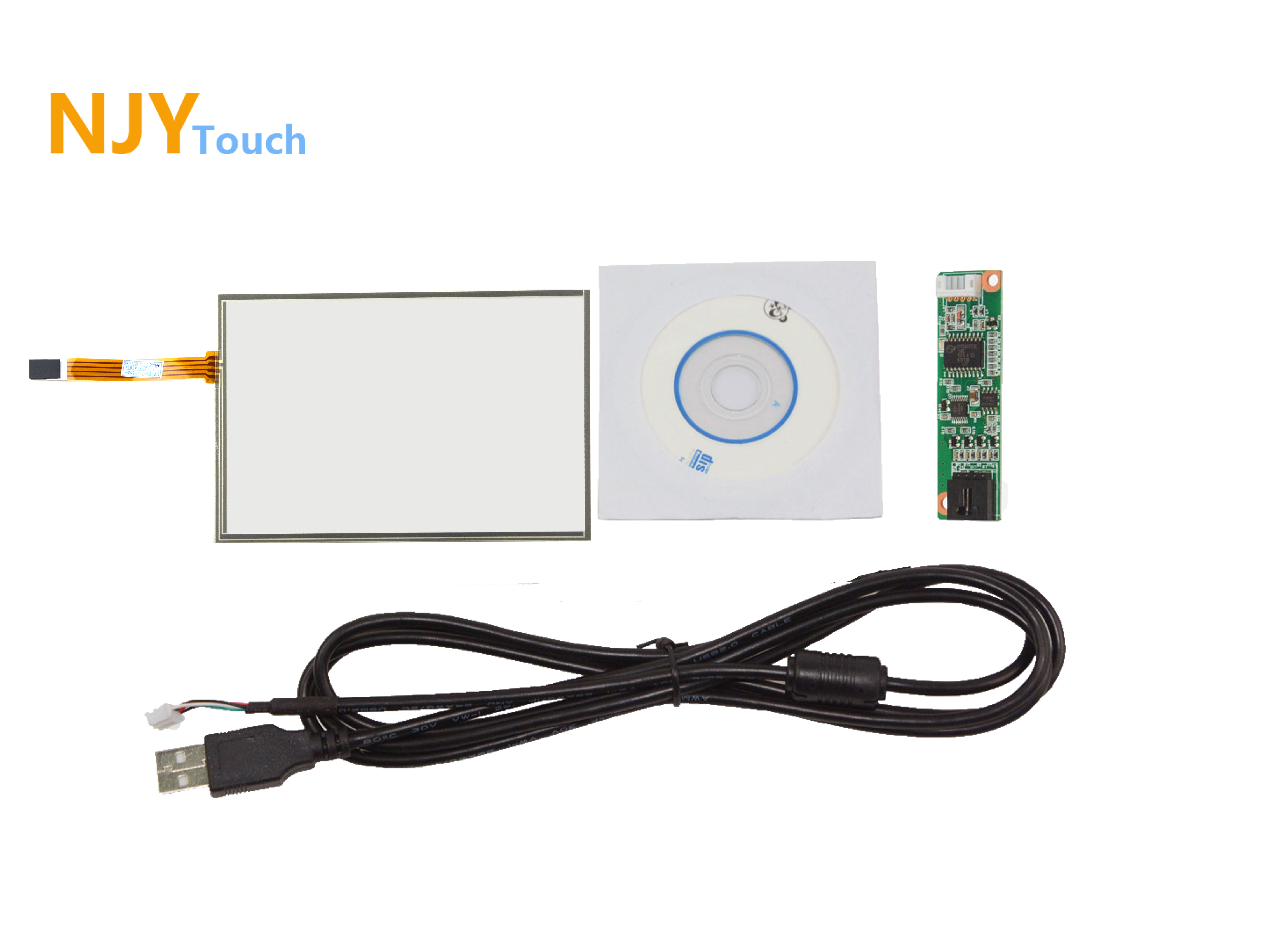 8inch 4 Wire Touch Panel 183 x 141mm USB Card Kit For 8  A080SN01 4:3 LCD Screen