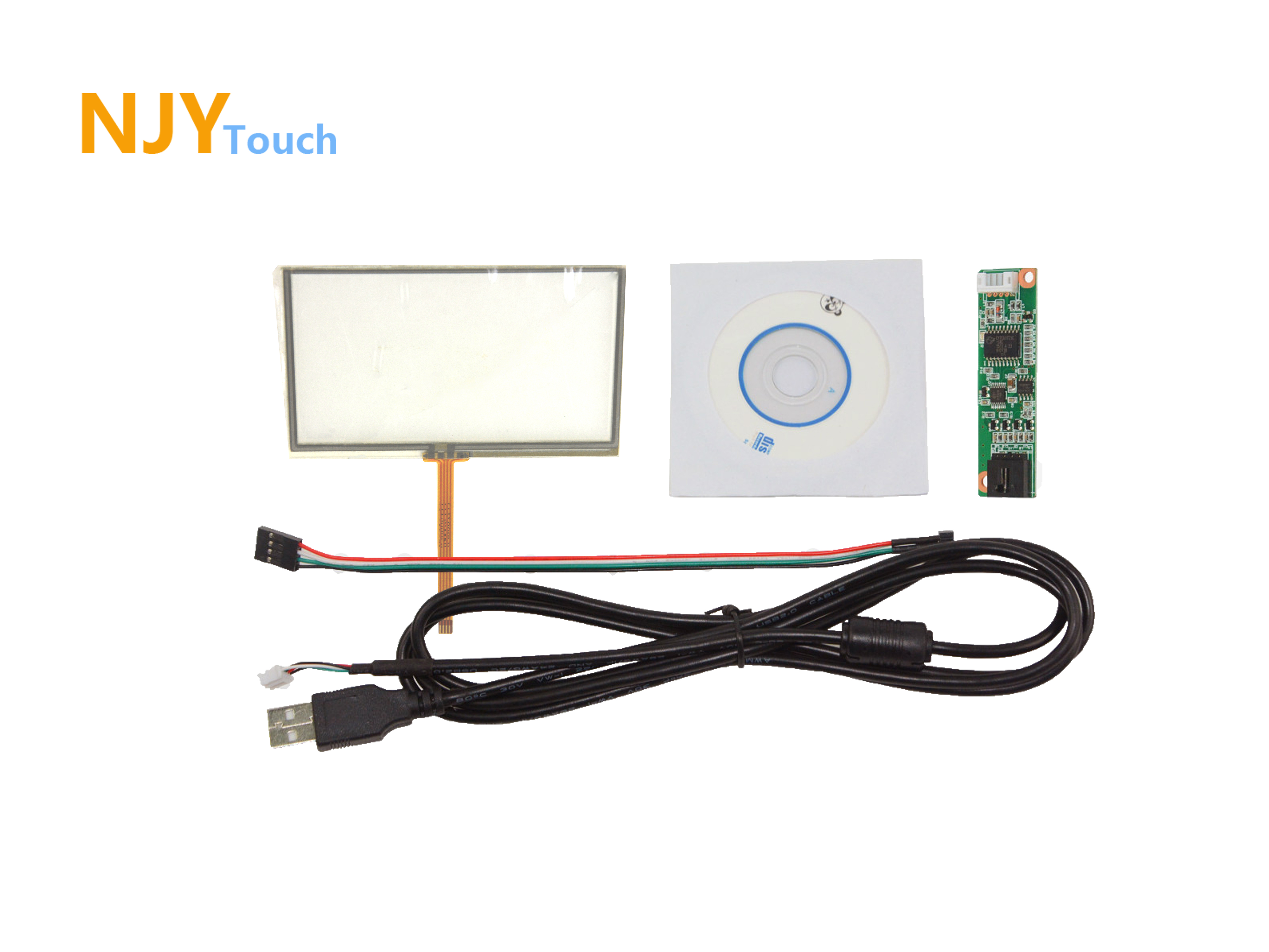 4.3inch 4 Wire Resistive Touch Panel 103 x 63mm Handwriting Screen USB Card Kit