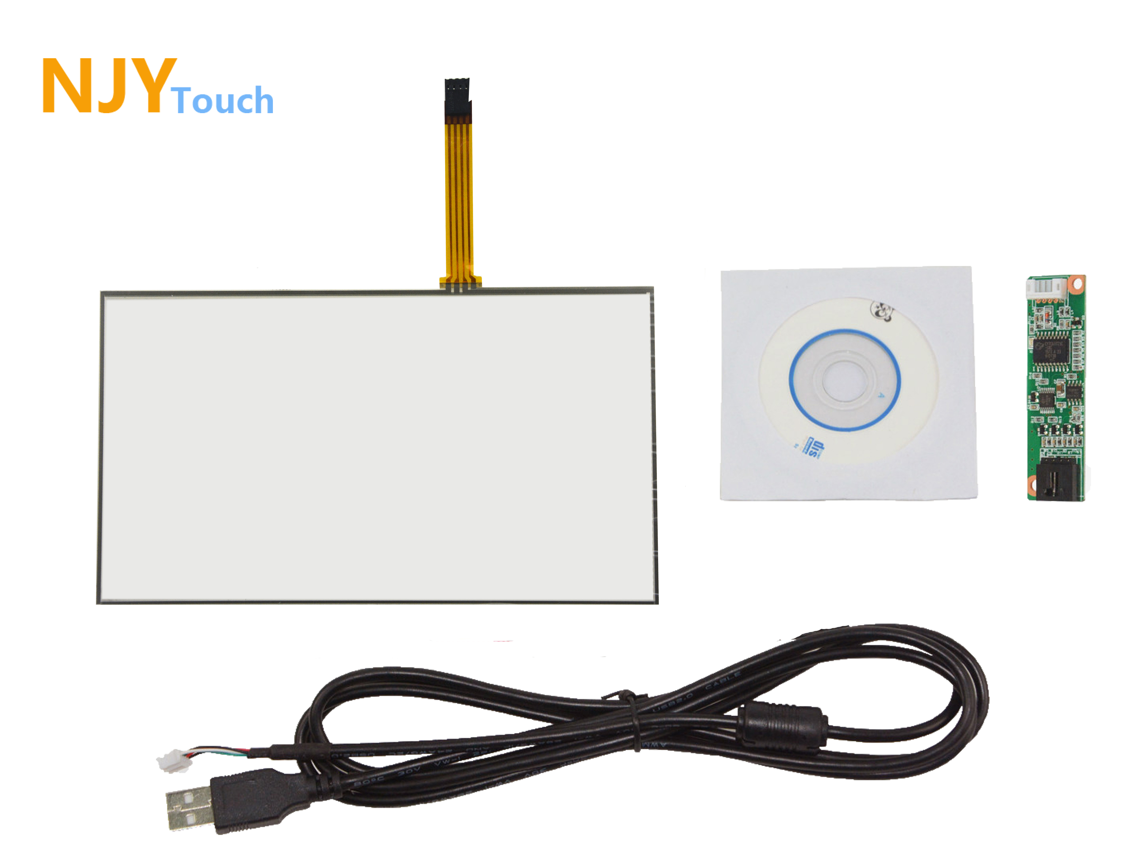10.2inch 4 Wire Resistive Touch Panel 235 x 145mm With USB Controller Card Kit
