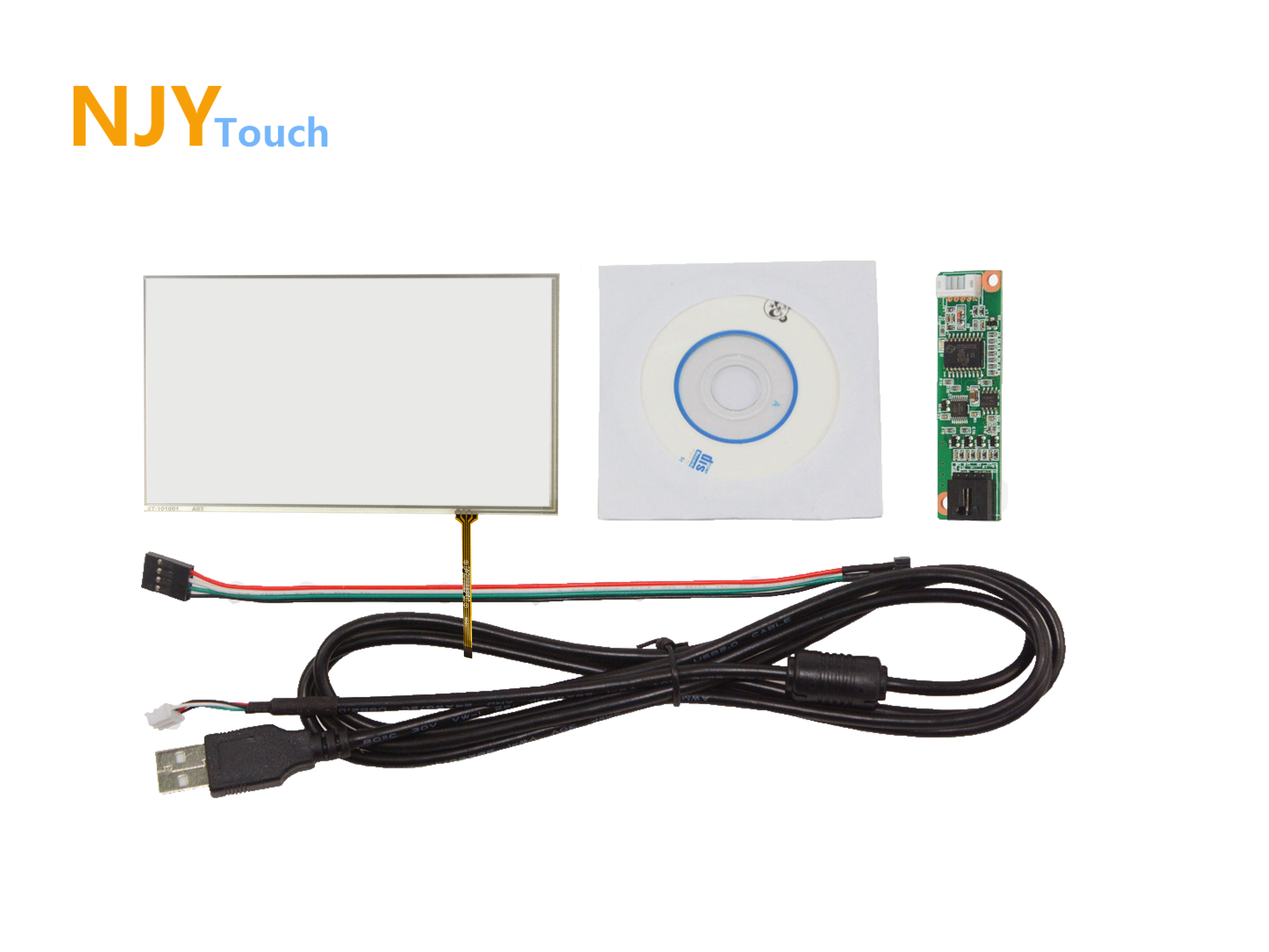 10.1inch 4 Wire Resistive Touch Panel 228mm x 148mm With USB Controller Card Kit