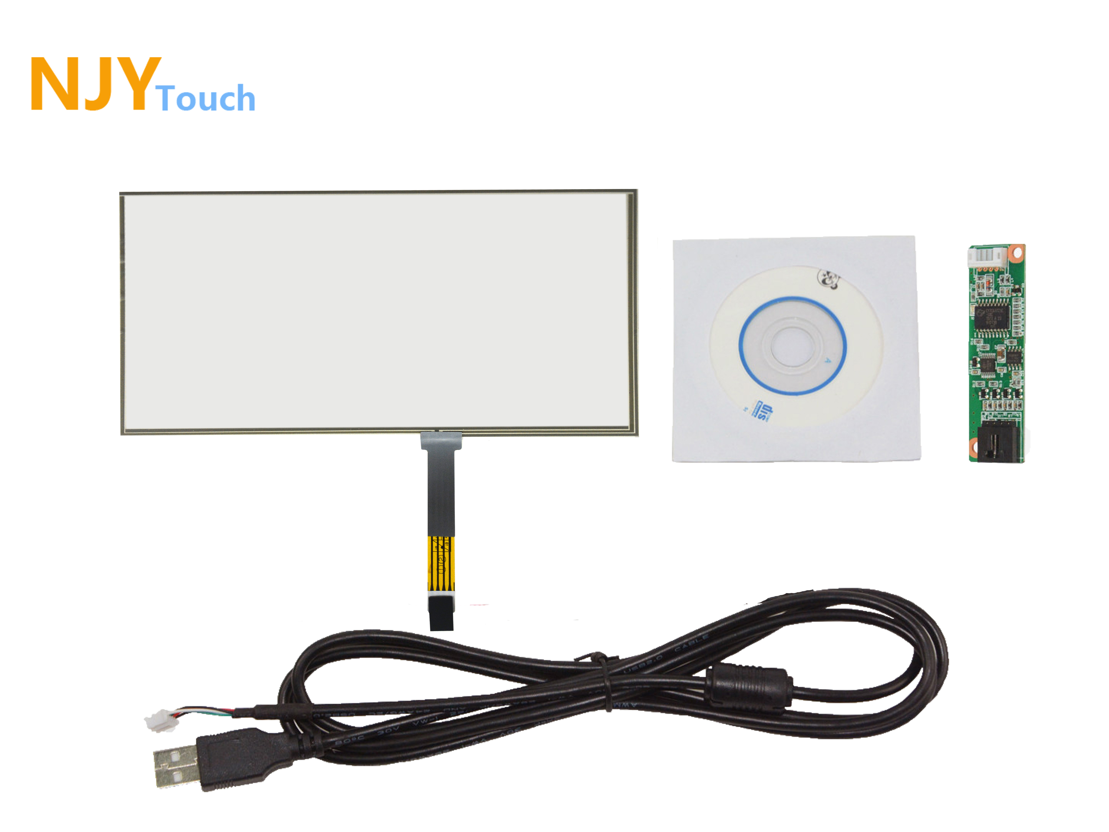 10.1inch 4 Wire Film to Film Touch Panel 235x 143mm With USB Controller Card Kit
