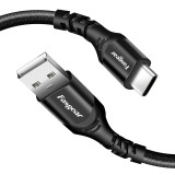 Fasgear USB to Type C Charging Cable, Nylon Braided, USB 2.0