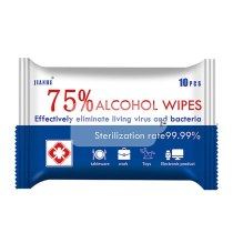 75% Alcohol Disinfection Wipes Without Irritating Or Drying Your Skin Clean Disinfect Deodorize 10 Pcs/Bag