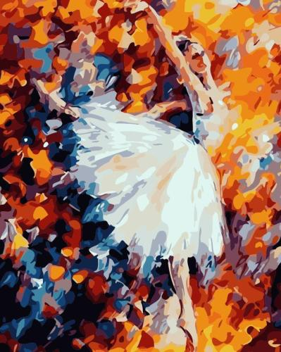 DIY Painting By Numbers -  Colorful Ballet Dancer (16 x20  / 40x50cm)