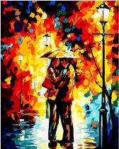 DIY Painting By Numbers - Romantic Lovers (16 x20  / 40x50cm)